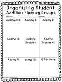 Math Fact and Sight Word Fluency Small Group Organization