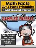 Math Facts: Cut & Paste Printables-Addition & Subtraction