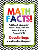 Math Facts Unit: Addition & Subtraction Flash Cards & Week