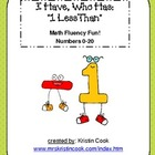 Math Game - I Have, Who Has - 1 Less Than, Up to 20