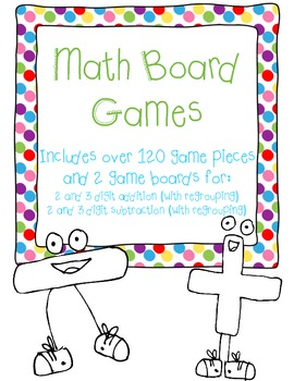 2 and 3 digit addition AND subtraction math games!