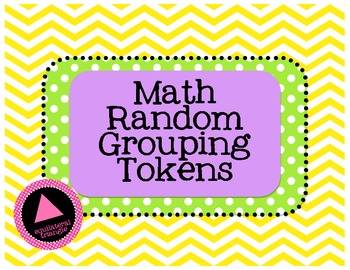 Math Grouping Cards