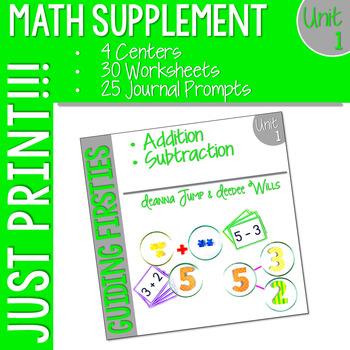 Math Guiding Firsties: Math Supplement UNIT 1