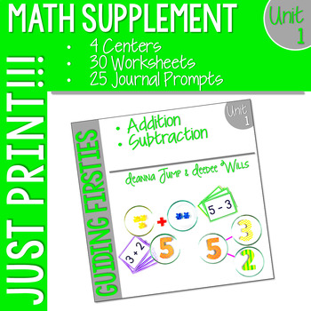 Math Guiding Firsties: Math Supplement UNIT 1