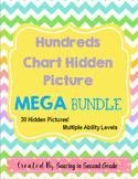 Math Hundreds Chart Hidden Pictures MEGA Bundle Place Valu