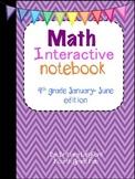 Math Interactive Notebook 4th grade edition January-June