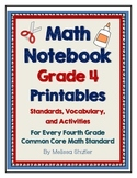 Math Interactive Notebook Printables -Grade 4