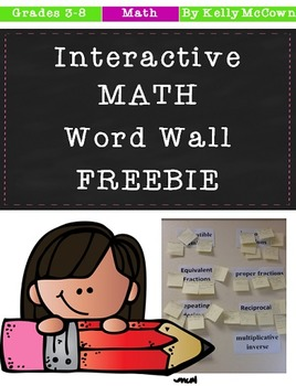 Interactive Math Word Wall FREEBIE