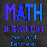 Math Intervention: Area and Perimeter