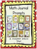 Math Journal Prompts-A Complete School Year!