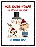 Math Journal Prompts December and January edition