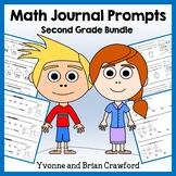 Math Journal Prompts for 2nd Grade Bundle - Mathbooking