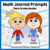 Math Journal Prompts for 3rd Grade Bundle - Mathbooking