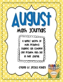 Math Journals {August}