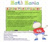 Math Mania Weekly Math Review
