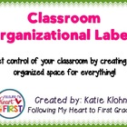 Organizational Labels for the Classroom