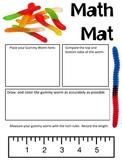 Math Mat Review Activity:  Gummy Worm