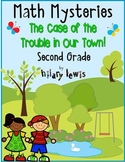 Math Mystery-Case of the Trouble in Our Town-Grade 2-CCSS