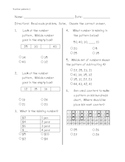 Math Number patterns pre-post assessment (ITBS style)