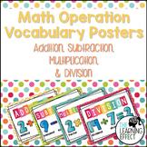 Math Operation Vocabulary Posters