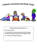 Math: Ordinals: Ordinal Numbers 1st-20th: Assessment & Guide