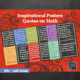 Math Posters 2, More Inspirational Quotes