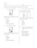 Math Probability pre-post assessments (ITBS style)