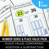 1st Grade Number Sense and Place Value Print and Practice