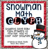 Math Review: Winter Snowman Glyph