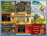 Math Room Scavenger Hunt Activity Super Bundle