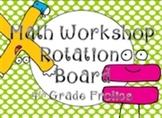 Math Rotations Board - Lime Dots/Black Chevron Theme