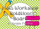Math Rotations Board - Lime Dots/Black Chevron Theme