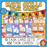 Math Skills Task Cards Bundle