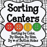 Math Sorting Center: by color, by shape, by size, sorting