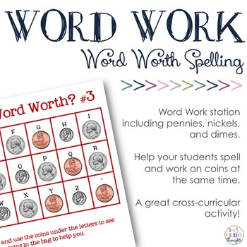 Math + Spelling= How Much is Your Word Worth? #3 {Pennies,