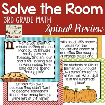 Thanksgiving Math Spiral Review