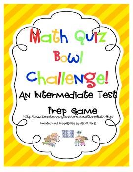 Math Standardized Test Quiz Bowl Game Show
