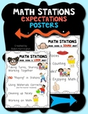 Math Stations {Expectations Poster Set} for Kindergarten a