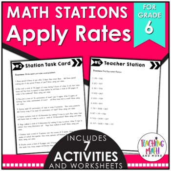 Math Stations: Applying Rates & Ratios