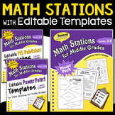 Math Stations Combo (Ebook and Templates)