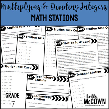 Math Stations: Multiplying & Dividing Integers