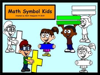 Math Symbol Kids - Clip Art for Teaching