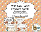 Math Task Cards: Fractions Bundle {Enhanced with Augmented