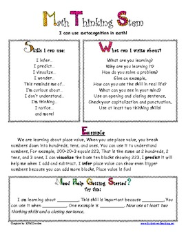 Math Thinking Stem Guide