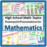 Math Topics for High School Math
