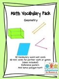 Math Vocabulary Pack (Geometry)