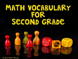 Math Vocabulary Second Grade Posters