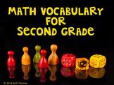 Math Vocabulary Second Grade Posters
