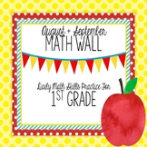 Math Wall 1: 1st Grade, Common Core Daily Math Practice