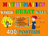 Math Word GREAT Wall - 400 posters/cards K-9 Vocabulary Bu